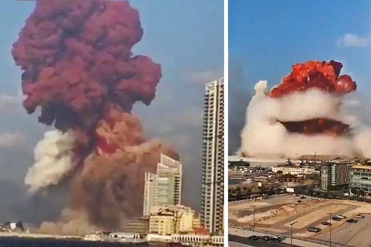 Beyrut limanındakı güclü partlayışın  -