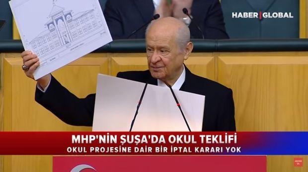 """MHP-nin ŞUŞADAKI MƏKTƏB LAYİHƏSİ... - """"Haber Global"""" nə baş verdiyini açıqladı + VİDEO"""