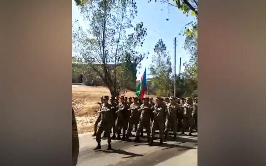 Şuşada hərbi yürüş keçirilib -