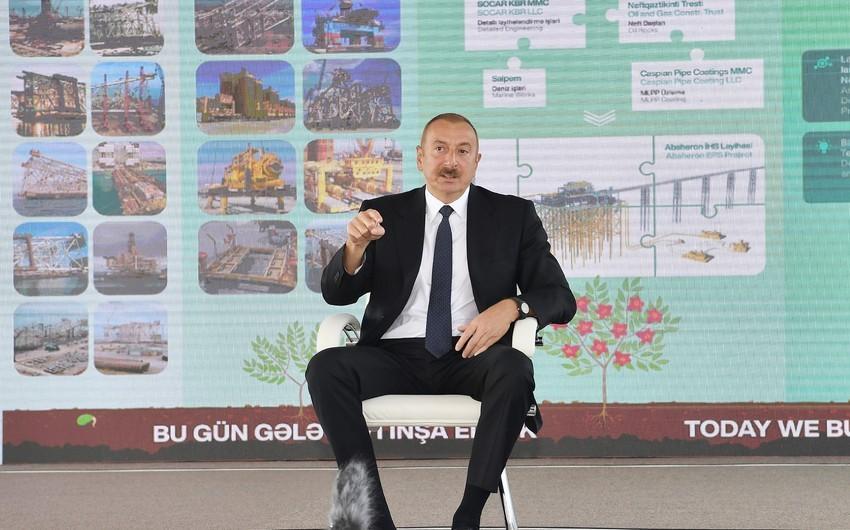"""""""Bu gün Azərbaycan bütün reytinqlərdə ən qabaqcıl yerlərdədir""""-"""